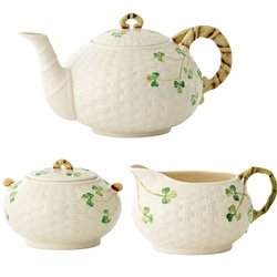 Belleek Classic Shamrock Irish Teaset