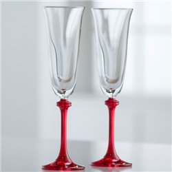 Galway Crystal *Clearance* Liberty Flutes - Red