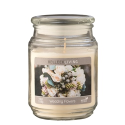 Belleek Living Wedding Flowers Candle