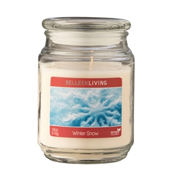 Belleek Living Winter Snow Candle