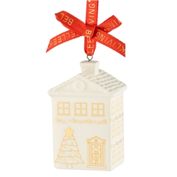 Belleek Living Georgian House Hanging Ornament