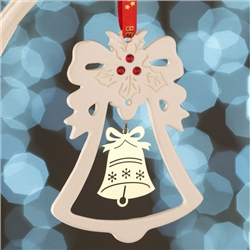 Belleek Living Gold Bell Hanging Ornament