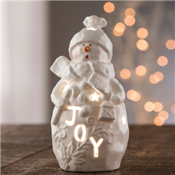 Belleek Living Joy Snowman - Votive
