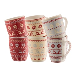 Aynsley Fairisle Mugs Set