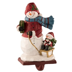 Aynsley Wooley Hat Snowman Stocking Holder