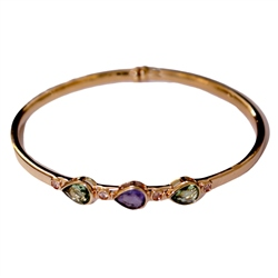 Designer Jewellery Peridot and Purple Bangle