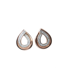 Designer Jewellery Rose Gold Droplet Earrings