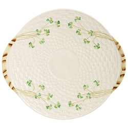 Belleek Classic Personalised Shamrock Bread Plate