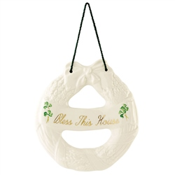 Belleek Classic Personalised House Blessing Wreath