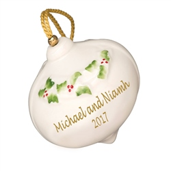 Belleek Classic Personalised Our First Christmas