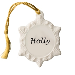 Belleek Classic Personalised Snowflake Hanging Ornament