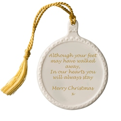 Belleek Classic Personalised Christmas Hanging Ornament