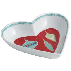 Aynsley Let it Snow Heart Dish