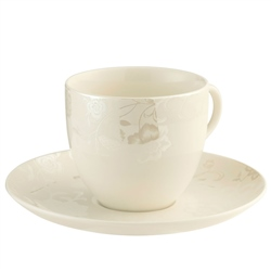 Belleek Living Evermore 4 Teacups & Saucers Set
