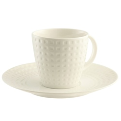 Belleek Living Grafton 4 Teacups & Saucers