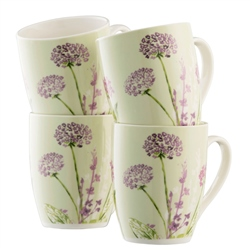 Aynsley Floral Spree 4 Mugs Set