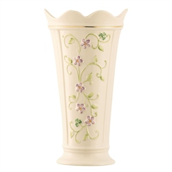 "Belleek Classic Irish Flax 9.5"" Vase"