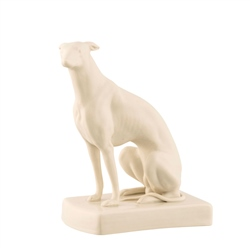 Belleek Classic Masterpiece Collection - Male Greyhound Sitting