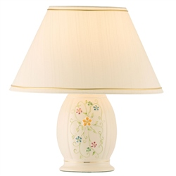 Belleek Classic Daisy Blossom Lamp & Shade  UK Fitting