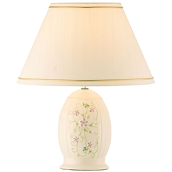 Belleek Classic Irish Flax Lamp & Shade  UK Fitting
