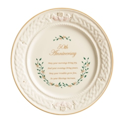 Belleek Classic 50th Anniversary Plate