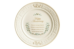 Belleek Classic Happy Anniversary Plate