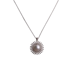 Designer Jewellery Pearl Spray Necklace