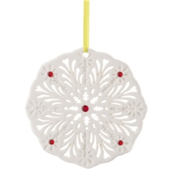 Belleek Living Barnardo's Gem Snowflake Ornament