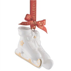 Belleek Living Ice Skates Miniature Ornament
