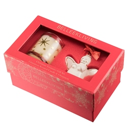 Belleek Living Mini Ornament and Candle Gift Set
