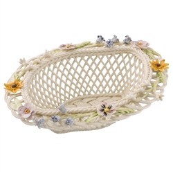Belleek Living Spring Flowers Basket