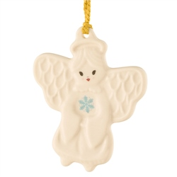 Belleek Classic Angel with Snowflake Ornament