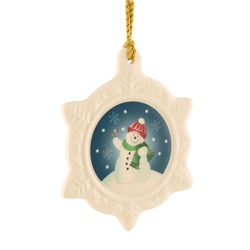 Belleek Classic Snowman Ornament