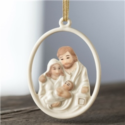 Belleek Living Nativity Family Hanging Ornament