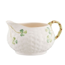 Belleek Classic 1880 - Gold Shamrock Cream Jug