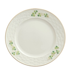 Belleek Classic 1880 - Gold Shamrock Dinner Plate