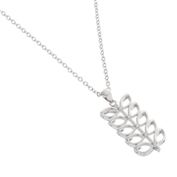 Belleek Designer Jewellery Leaves Necklace