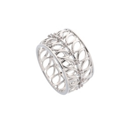 Belleek Designer Jewellery Leaves Ring