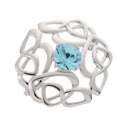 Belleek Designer Jewellery Love Knot Brooch