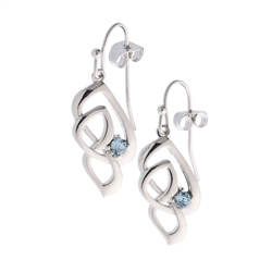 Belleek Designer Jewellery Love Knot Earrings