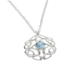Belleek Designer Jewellery Love Knot Necklace