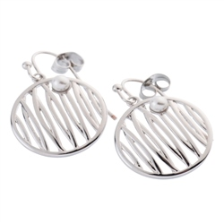 Belleek Designer Jewellery Reed Earrings