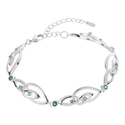 Belleek Designer Jewellery Emerald Bracelet