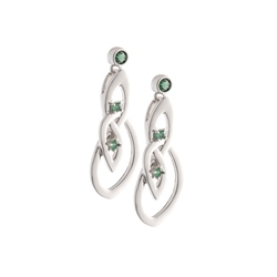 Belleek Designer Jewellery Emerald Earrings