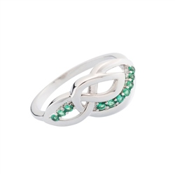 Belleek Designer Jewellery Emerald Ring