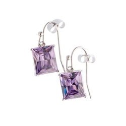 Belleek Designer Jewellery Violet Earrings
