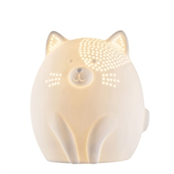 Belleek Living Kitty Cat Luminaire