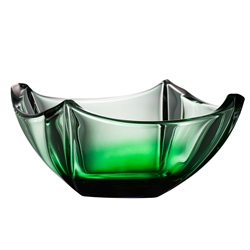 "Galway Crystal Emerald Dune 10"" Bowl"