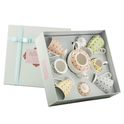 Aynsley Polka Dot Roses 7 Piece Set