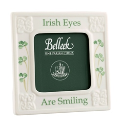 Belleek Classic Irish Eyes are Smiling 3 x 3 Frame